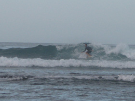 Jason drops in at Playa Negra