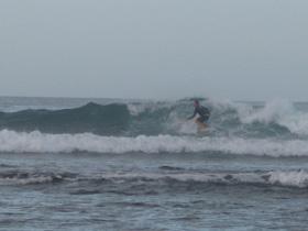 Jason drops in at Playa Negra