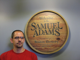 Jason at Sam Adams