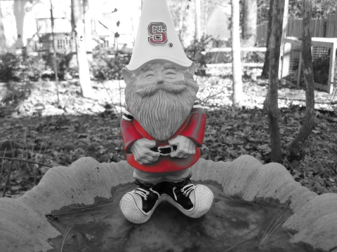 NC State gnome (ice skating)