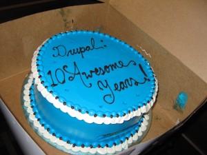 drupal_10years_cake
