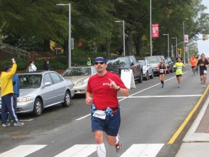 Shibby finishes the 2012 City of Oaks Rex Healthcare half marathon