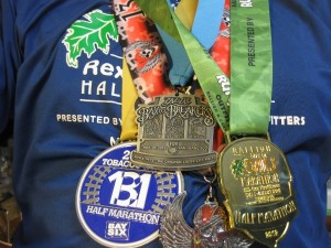 2012 running medals