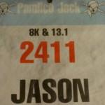 Pre-race prep, bib #2411