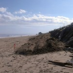 Beach damage from Hurricane Sandy in Kitty Hawk