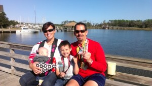 Post race party in Manteo