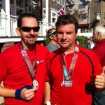 Jason and Rich at the finish line