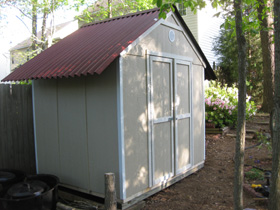 Garden shed finish