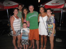 Dinner with friends in Playa del Coco